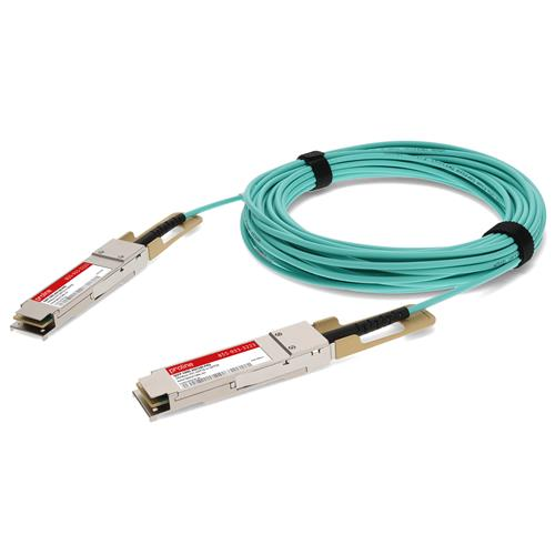 Picture of Cisco® QSFP-100G-AOC5M Compatible TAA Compliant 100GBase-AOC QSFP28 to QSFP28 Active Optical Cable (850nm, MMF, 5m)
